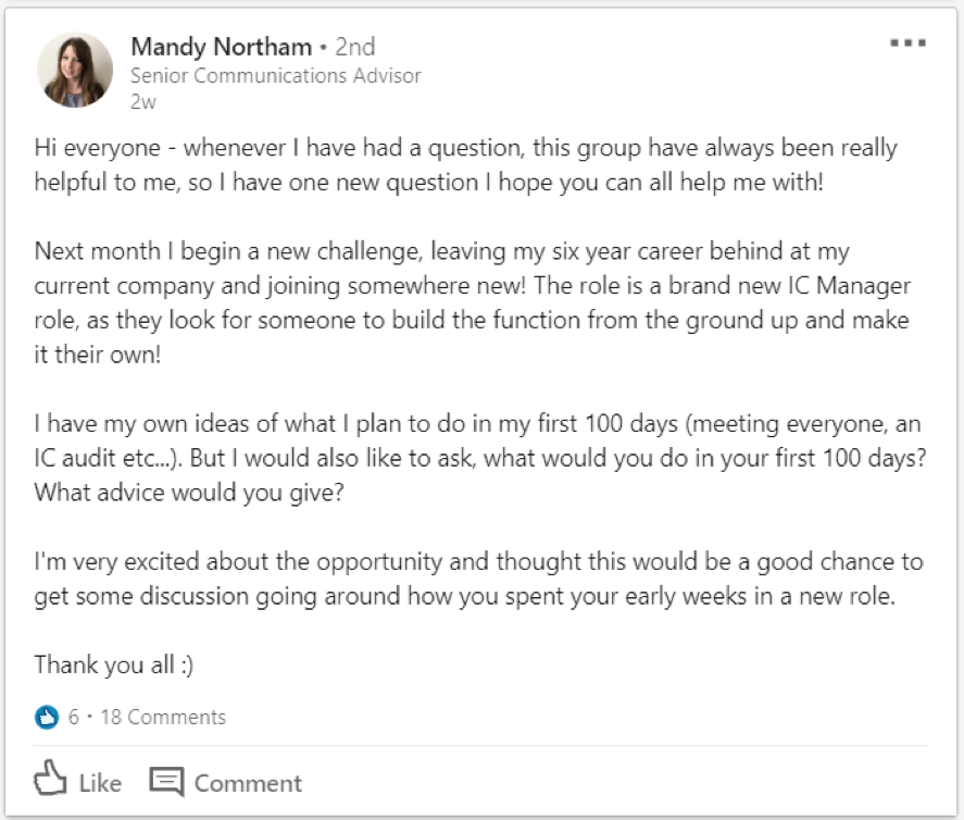 7 internal communications LinkedIn Groups you should join today, Mandy Northam